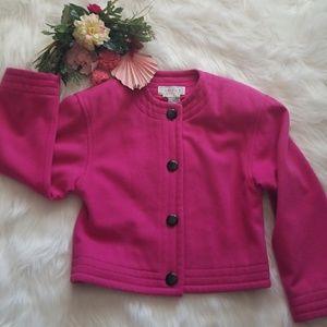 CARLISLE Vintage Cropped Hot Pink Blazer Jacket